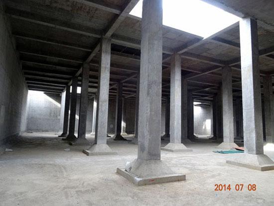 奎屯-独山子经济技术开发区第一污水处理厂一期工程调节池内景